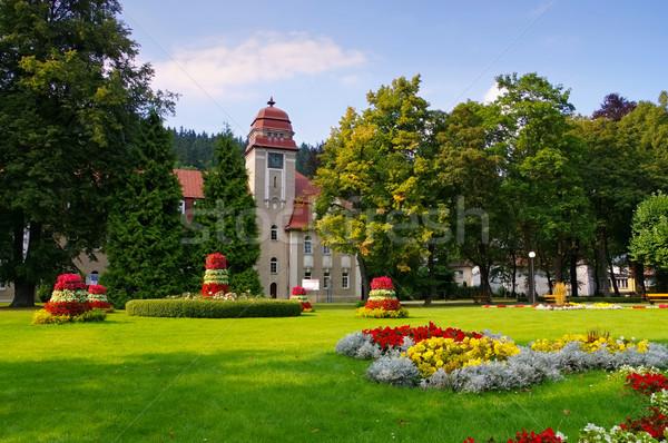 Bad Reinerz (Duszniki-Zdroj), health spa in Klodzko Valley Stock photo © LianeM