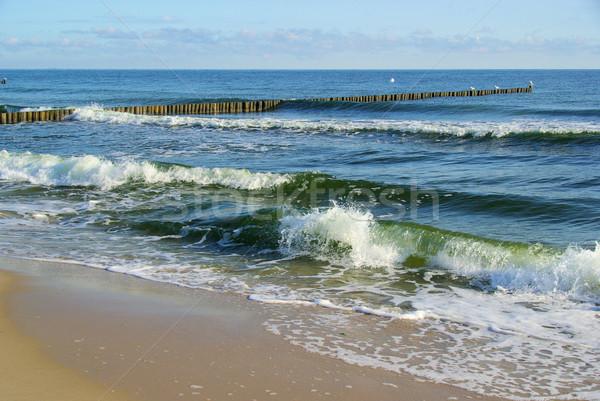ストックフォト: バルト海 · ビーチ · 自然 · 青 · 旅行 · 波