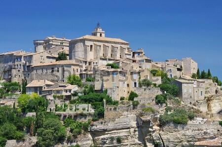 16 città panorama chiesa viaggio castello Foto d'archivio © LianeM