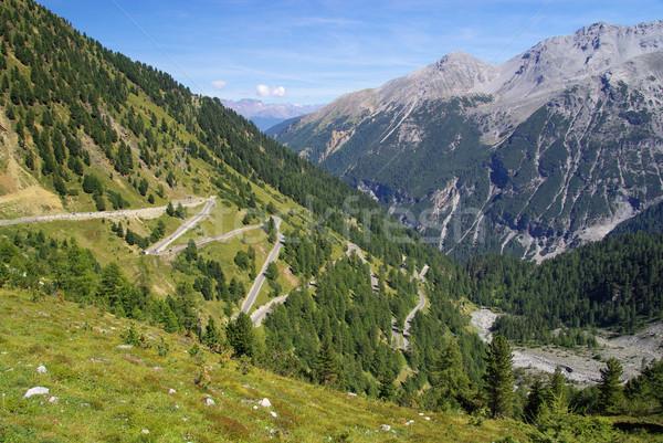 16 strada panorama montagna Europa Foto d'archivio © LianeM
