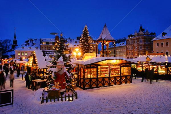 Christmas markt 15 gebouw stad licht Stockfoto © LianeM