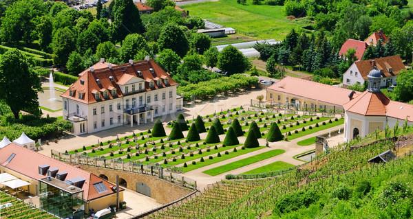 Paleis tuin reizen kasteel architectuur park Stockfoto © LianeM