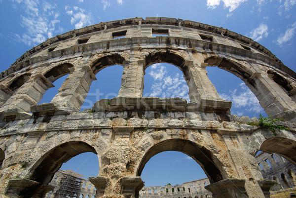 13 небе здании стены синий каменные Сток-фото © LianeM