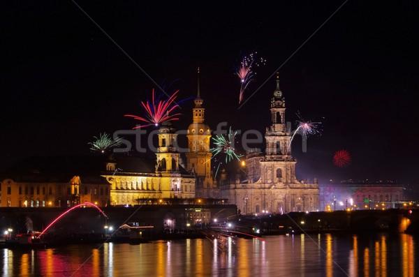 Dresden Fireworks  Stock photo © LianeM