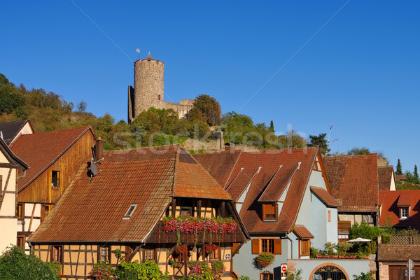 town Kaysersberg in Alsace, France Stock photo © LianeM