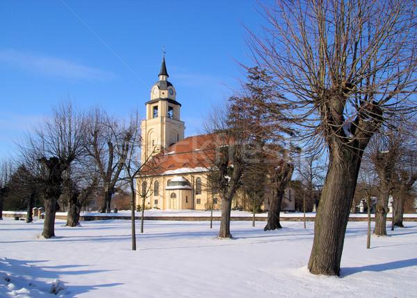 Altdobern church winter 0 Stock photo © LianeM