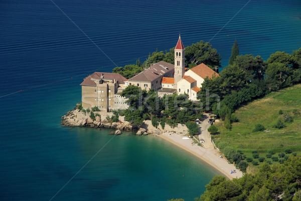 Abdij hemel stad oceaan kerk Blauw Stockfoto © LianeM