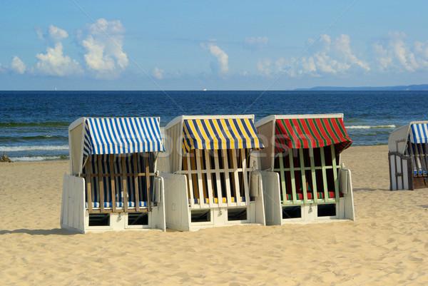 şezlong 16 plaj su ahşap güneş Stok fotoğraf © LianeM