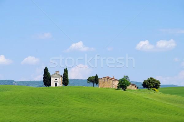Тоскана часовня дома весны области Церкви Сток-фото © LianeM