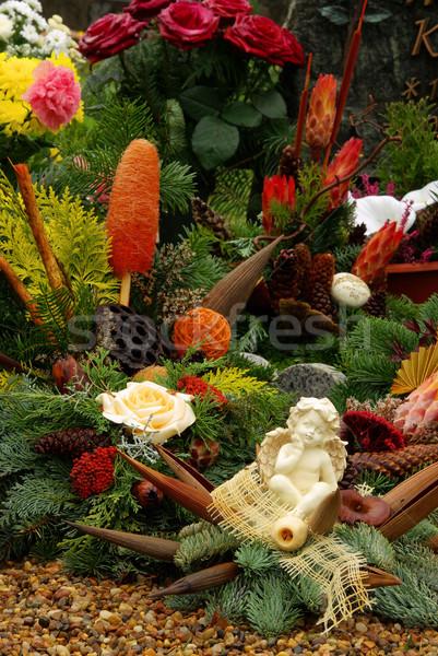 Floral cimetière 16 fleur amour Photo stock © LianeM