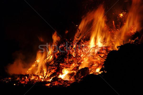 éjszaka máglya húsvét textúra háttér nyár Stock fotó © LianeM