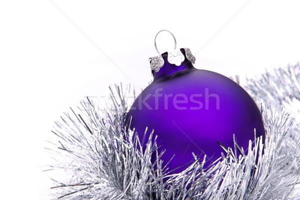 Рождества мяча до 80 фон серебро макроса Сток-фото © LianeM