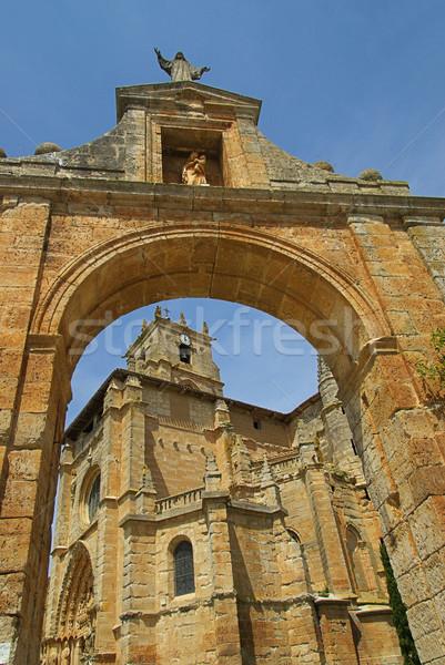 Церкви 12 Европа башни романтика стиль Сток-фото © LianeM