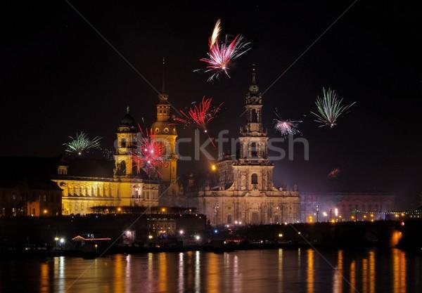 Dresden Fireworks 39 Stock photo © LianeM