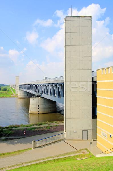 Magdeburg Water Bridge 05 Stock photo © LianeM