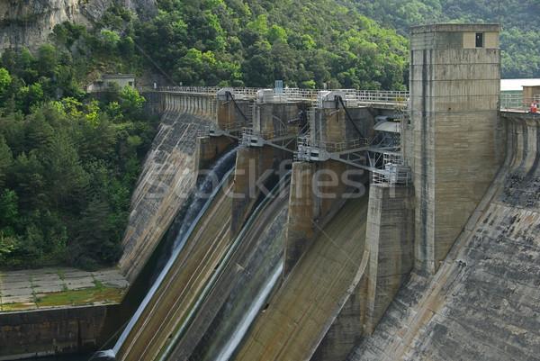 Rio su duvar göl nehir enerji Stok fotoğraf © LianeM