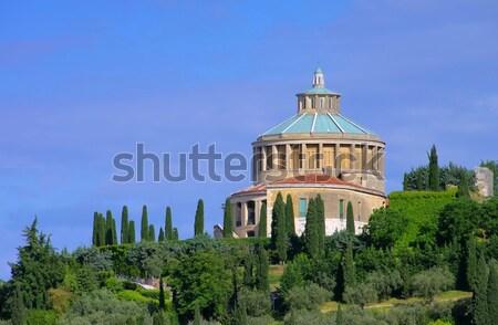 Verona torre colina cidade mosteiro Foto stock © LianeM