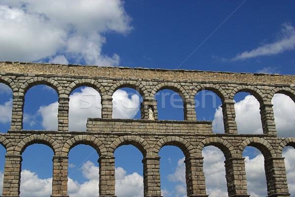 Segovia Aqueduct 04 Stock photo © LianeM