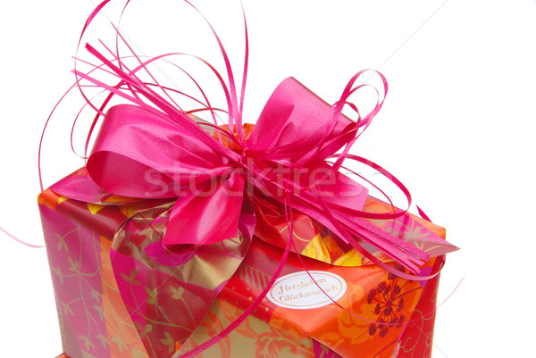 Geschenk freigestellt - gift isolated 06 Stock photo © LianeM