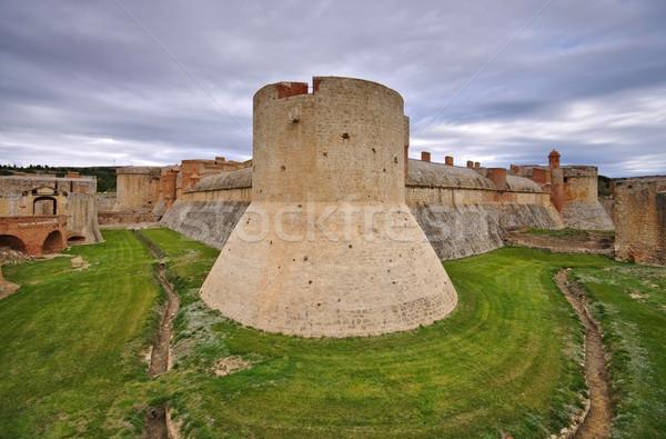 форт Франция старые южный архитектура Европа Сток-фото © LianeM