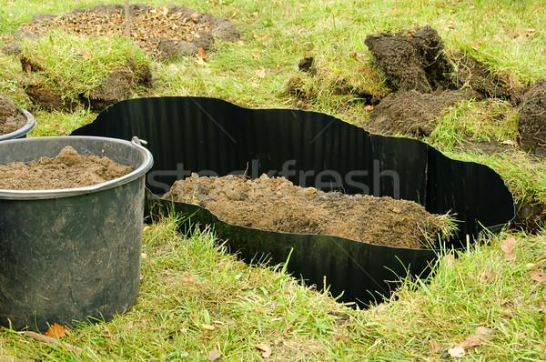Wurzelsperre - root barrier 04 Stock photo © LianeM