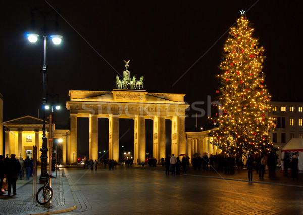 Berlin Brandenburger Tor Weihnachten - Berlin Brandenburg Gate christmas 01 Stock photo © LianeM