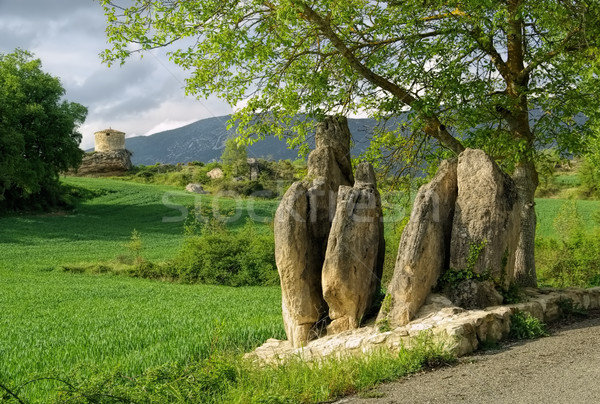 Mijaraluenga Menhir in Spain Stock photo © LianeM