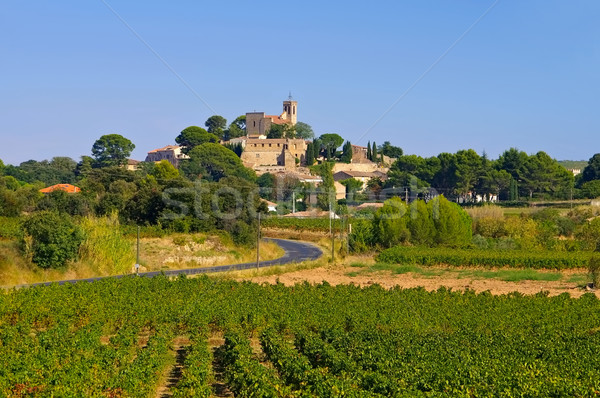 Saint-Pons-de-Mauchiens a town in southern France Stock photo © LianeM