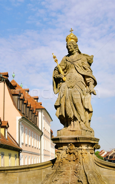 Bamberg empress Kunigunde statue 04 Stock photo © LianeM