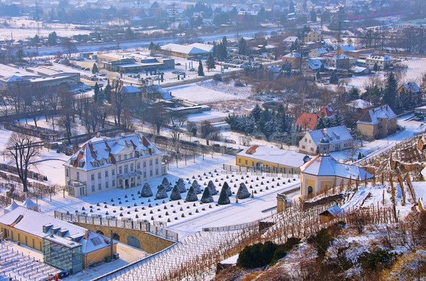 Palácio inverno neve gelo viajar castelo Foto stock © LianeM