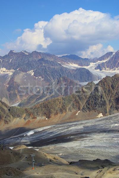 Vallei gletsjer natuur berg ijs rock Stockfoto © LianeM