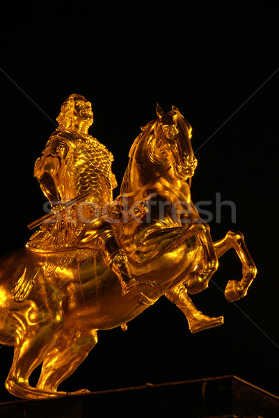 Dresden Golden Knight night 10 Stock photo © LianeM