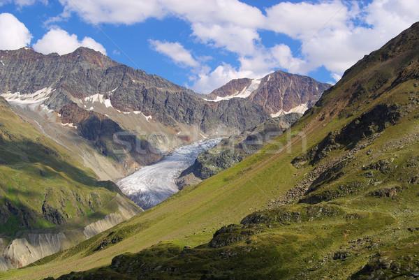 долины ледник горные льда рок каменные Сток-фото © LianeM