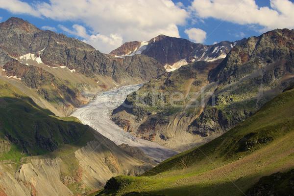 Valle ghiacciaio neve montagna ghiaccio rock Foto d'archivio © LianeM