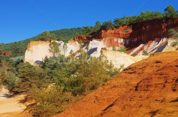 Rotsen 13 natuur landschap oranje reizen Stockfoto © LianeM