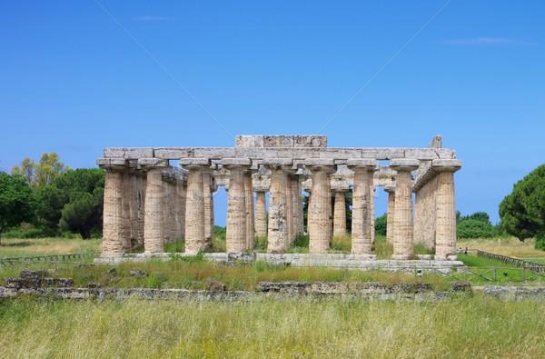 небе синий культура храма греческий древних Сток-фото © LianeM