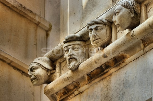 Sibenik Cathedral heads  Stock photo © LianeM