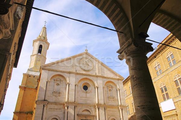 Pienza cathedral 02 Stock photo © LianeM