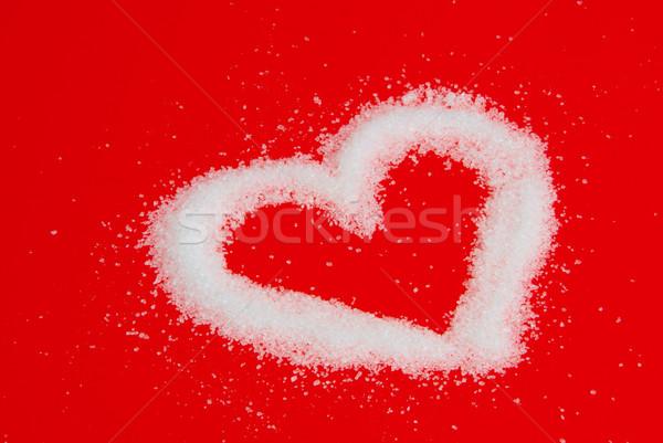 Herz aus Zucker - heart from sugar 04 Stock photo © LianeM
