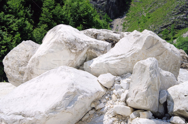 Carrara  marble stone pit 08 Stock photo © LianeM