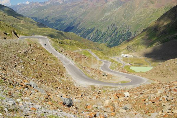 долины ледник дороги природы пейзаж горные Сток-фото © LianeM