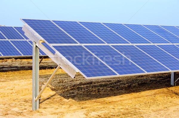 solar plant on field 06 Stock photo © LianeM