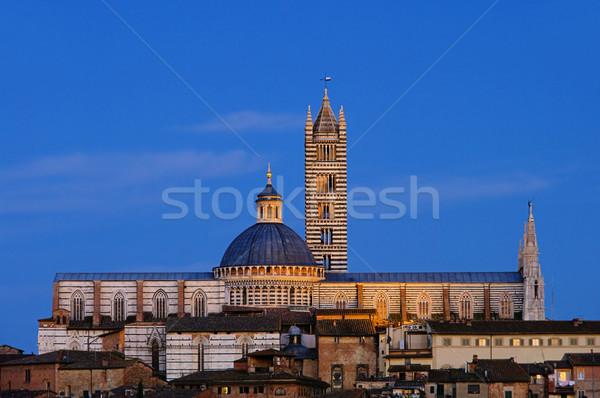 Siena night 02 Stock photo © LianeM