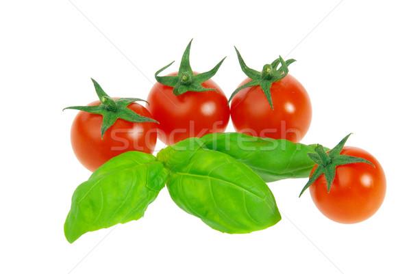 Pomodoro basilico 22 colore impianto impianti Foto d'archivio © LianeM