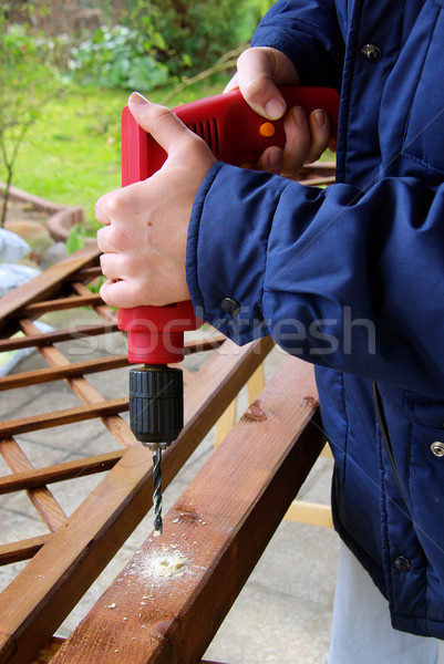 Três de um tipo 15 casa construção casa ferramentas Foto stock © LianeM