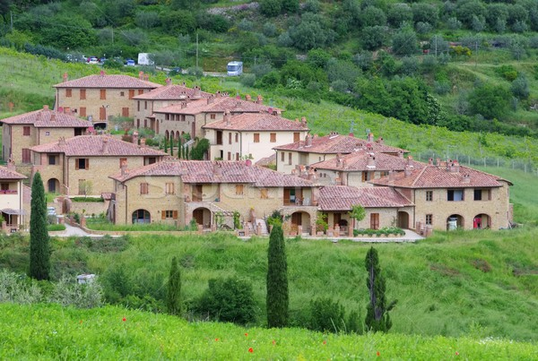 Тоскана деревне дома дерево весны природы Сток-фото © LianeM