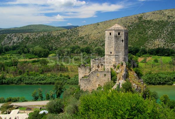 13 hegy kék kastély útvonal domb Stock fotó © LianeM