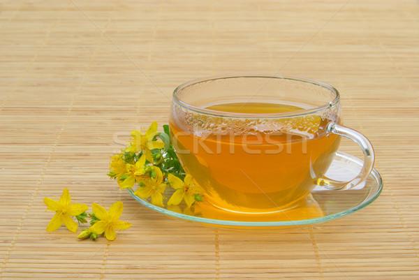 茶 花 医療 ガラス 背景 ドリンク ストックフォト © LianeM