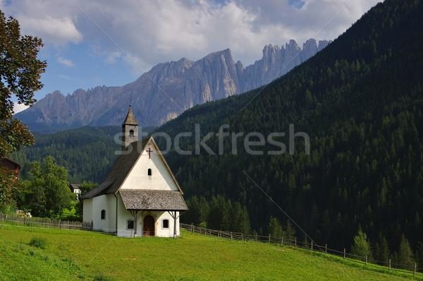 Capilla rock Europa pradera valle Italia Foto stock © LianeM