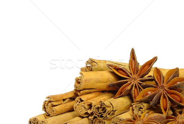 Canela em pau estrela comida fundo natal vara Foto stock © LianeM